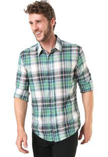Camisa Sergio K Slim Xadrez Verde