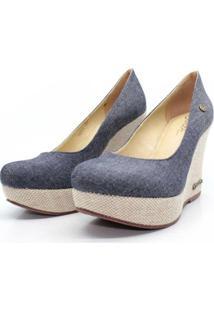 Scarpin Barth Shoes Land Jt Nat Jeans Feminino - Feminino-Jeans Claro