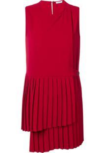 P.A.R.O.S.H. Blusa Com Pregas - Vermelho