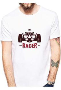 Camiseta Coolest Racer Masculina - Masculino-Branco