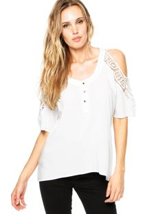 Camisa Facinelli Renda Branca