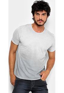 Camiseta Kohmar Meia Malha Estonada Masculina - Masculino-Cinza