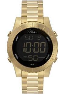 Relógio Condor Casual Digital Masculino - Masculino-Dourado