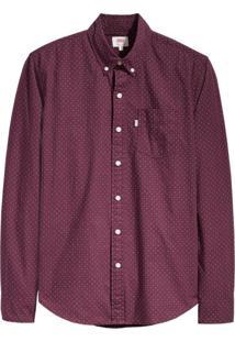 Camisa Levis Masculina Classic One Pocket Vermelha Vermelho