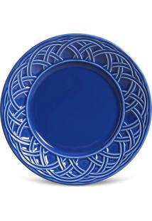 Jogo De Pratos De Sobremesa Porto Brasil 6 Peã§As Cestino Azul Navy - Azul - Dafiti