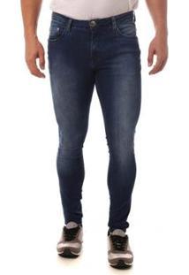 Calça Jeans Denuncia Super Skinny Masculina - Masculino-Azul