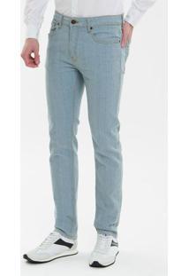Calça Jeans Five Pockets Slim - Azul Claro - 36