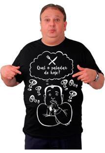 Camiseta Masculina Gola U Qual O Paladar? - Masculino-Preto