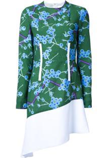 Carven Vestido Estampado - Verde