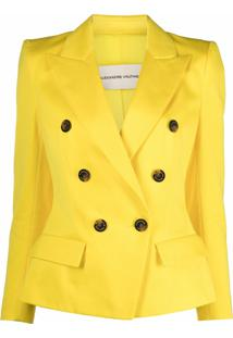 Alexandre Vauthier Double-Breasted Tailored Blazer - Amarelo