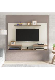 Painel Para Tv Até 60 Polegadas Essence Artely Off White/Pinho