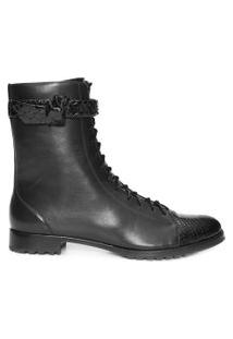 Bota Feminina Evelyn Exotic - Preto