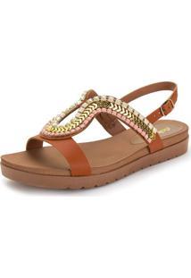 Sandália Feminina Flat Dakota - Z5162 Caramelo 34