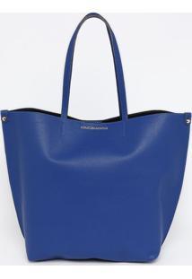 Bolsa Lisa Com Inscriã§Ã£O- Azul- 34X30X16Cmloucos E Santos