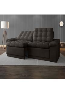 Sofã¡ 4 Lugares Net Confort Assento Retrã¡Til E Reclinã¡Vel Chocolate 2,20M (L) - Marrom - Dafiti
