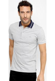 Camisa Polo Lacoste Piquet Slim Fit Fancy Contraste Masculina - Masculino