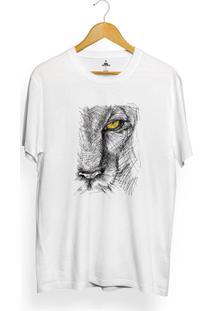 Camiseta Skill Head Half Lion - Masculino-Branco