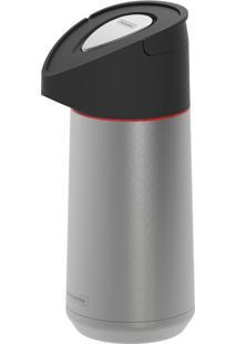 Garrafa Térmica De Aço Inox Com Ampola De Aço 1,40L - Exata - Cor Inox