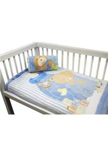 Cobertor Infantil Camesa Microfibra Masculino Patch - Azul