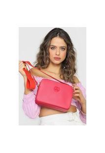 Bolsa Carmim Logo Rosa/Vermelha