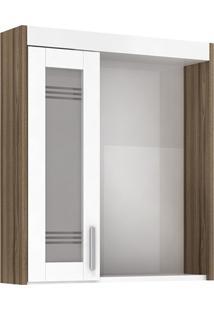 Espelheira Imola Com Luminária Terracota 60Cm
