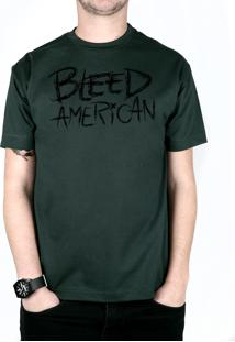 Camiseta Bleed American Logo Musgo