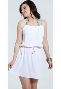 f3a27f669 ... Vestido Feminino Saída De Praia Alças Finas Marisa