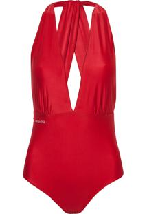 Body Rosa Chá Bianca Red Beachwear Vermelho Feminino (Barbados Cherry, G)