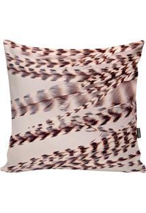 Capa De Almofada Feathers- Nude & Marrom- 42X42Cm