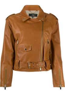 Arma Doris Lee Biker Jacket - Marrom