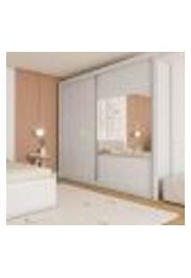 Guarda-Roupa Casal Com Espelho Port 2 Pt 6 Gv Neve