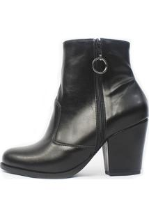 Bota Damannu Shoes Florence Napa Preto