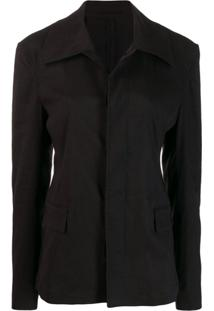 Golden Goose Trench Coat Curto - Preto