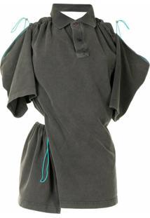 Y/Project Blusa Drapeada Assimétrica - Cinza
