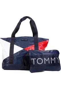 Bolsa Tommy Hilfiger Shopper Pouch Color Block Feminina - Feminino-Colorido