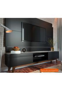 Painel Para Tv Até 60 Polegadas Classic Preto 218 Cm