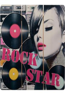 Quadro Decorativo Decor Glass Rock Star Madeira 40X30