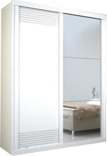Guarda-Roupa Onix Com Espelho - 2 Portas - 100% Mdf - Branco
