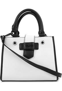 Bolsa Colcci Tote Lisa Feminina - Feminino-Branco+Preto