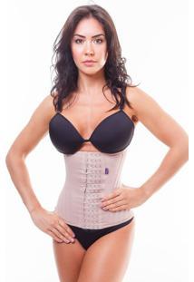 Cinta Modeladora Redutora Abdominal Miracle Belt Faixa 4 Fechos Nude