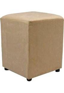 Puff Cubo Quadrado Box Decorativo Suede (34X34X45Cm) - Bege - Bege - Dafiti
