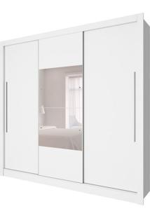 Guarda-Roupa Casal Com Espelho Genebra 3 Pt 4 Gv Neve