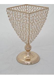 Porta Vela Bubble Ouro 34 X 18 Cm Dourado