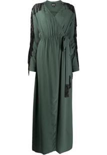 Just Cavalli Vestido Envelope Com Franjas - Verde
