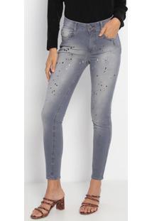 Jeans Skinny Com Respingos - Azul- My Favorite Thingmy Favorite Things