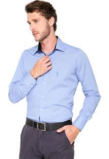 Camisa Aleatory Comfort Azul