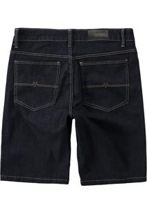 Bermuda Jeans Comfort Cintura Média Malwee Azul Escuro - 56
