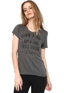 Camiseta Colcci Slim Cinza