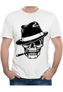 Camiseta Shirt Deads Gangster Skull Branca