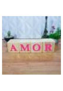 Cubo Decorativo Com Letras Em Acrílico Amor Único